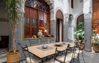 RIAD FES patio central de la maison